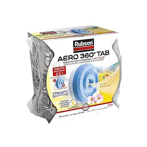 Rubson Recargas de deshumidificador Aero 360, blanco, aroma de flores silvestres, 450 g