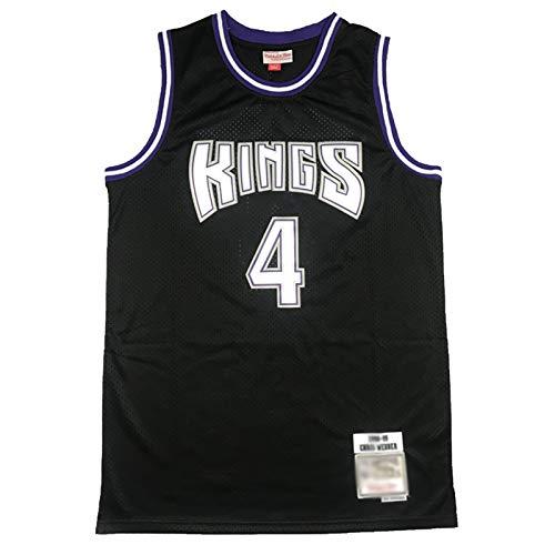 Camiseta de baloncesto de Kings Chris Webber de malla transpirable para hombre, uniforme de baloncesto, fitness, deporte, competición (S-2XL) M