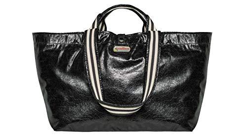 brasi&brasi Shopper Half&Stripe Glitter schwarz