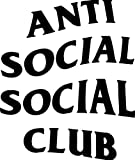Anti Social Social Club Logo Vinyl Stickers Symbol 5.5' Decorative DIE Cut Decal for Cars Tablets LAPTOPS Skateboard - White Color
