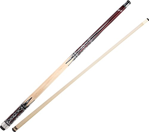 """Cuetec Natural Series 58"""" 2-Piece Canadian Maple Billiard/Pool Cue, Unwrapped, Brown Stain"""