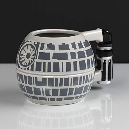Star Wars 3D Tasse Todesstern grau, bedruckt, 100 % Keramik, Fassungsvermögen ca. 450 ml.