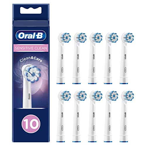 Oral-B Sensitive Clean Testine di ricambio con tecnologia ultra sottile per una pulizia più delicata, 10 pezzi