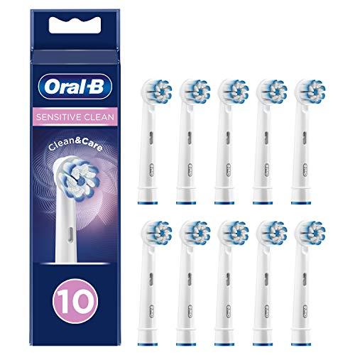 Oral-B Sensitive Clean Lot de 10 brossettes de rechange avec technologie de poils ultra-fins pour un nettoyage en douceur