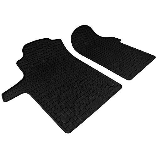 PETEX Gummimatten passend für V-Klasse ab 06/2014 / Vito ab 10/2014 vorne Fußmatten schwarz 2-teilig