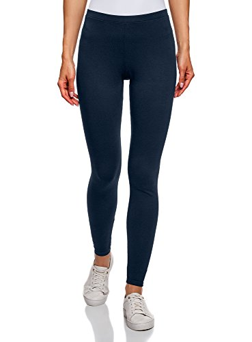oodji Ultra Damen Leggings Basic, Blau, DE 32 / EU 34 / XXS