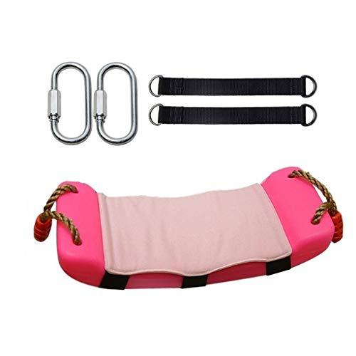 zxb-shop Columpios Juego de Columpios for niños Calentador Antideslizante Juego for Interiores y Exteriores Columpio Diseño ergonómico Multicolor Opcional (Color : Pink)