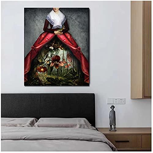 Catrin Welz-Stein Her Garden Art Canvas Painting Decoración de la habitación Arte de la pared Cuadros de pintura para la decoración del hogar-40x60 cm x1Sin marco