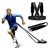 XCBW Schlittengurt, Speed Trainer mit Pull, für Laufen, Sprinten, Fußball, Power Pulling,...