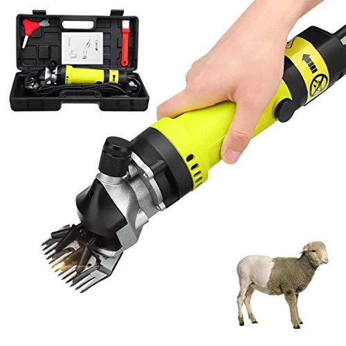 KOQIO Tijeras cortadoras eléctricas Tijeras para ovejas para Trabajo Pesado Tijeras de peluquería para Afeitar la Lana de Piel en Cabras, Ganado, Granja Ganadería con 6 velocidades