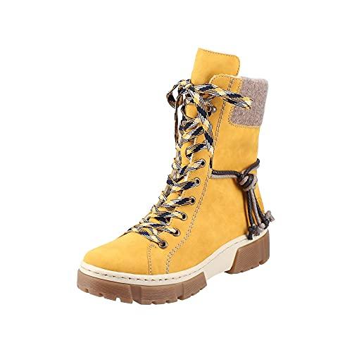 Rieker Damen X8618 Mode-Stiefel, gelb, 40 EU