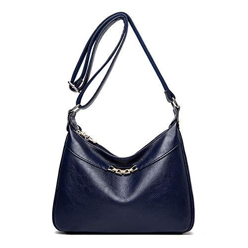 Sakilor Las señoras de la moda de las señoras de gran capacidad de cuero de la PU del bolso de las señoras bolsos de mano del bolso del mensajero-azul 1