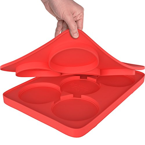 GuteKüchen Round Silicone Burger Press with 5 Circular Divisions for Tasty and Healthy Patties that - http://coolthings.us