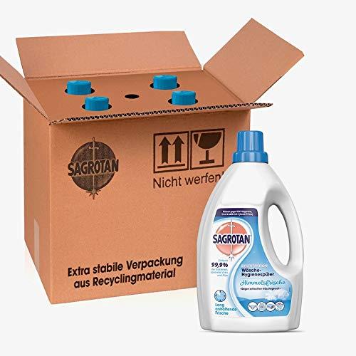 Sagrotan Wäsche-Hygienespüler Frisch, Desinfektionsspüler für hygienisch saubere und frische Wäsche, 4 Stück (4 x 1,5l) - 5