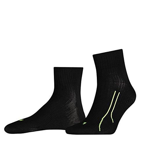 2 Paar PUMA Quarter unisex PERFORMANCE RUN TRAINING Socken Sport Freizeit FARBWAHL, Grösse:35-38;Farbe:schwarz