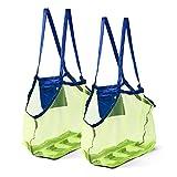 Bramble Set de 2 Bolsas de Malla para la Playa Juguetes de Niños/Toallas etc.