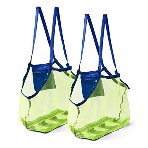 BRAMBLE! Set de 2 Bolsas de Malla para la Playa - Juguetes de Niños/Toallas Bolsa de Almacenamiento, 45x30x45cm