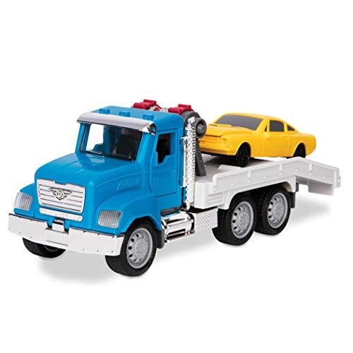 Driven Micro 2er Set Abschleppwagen und Rennauto 20 cm mit Lichtern und Tönen – Spielzeugauto LKW mit Funktionen – Spielzeug ab 3 Jahren