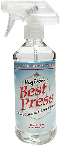 Mary Ellen Products Best Press - Almidón transparente alternativo (sin aroma), Incoloro (9,62 x 8,35 x 22,32 cm), 499 ml