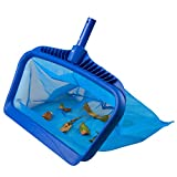 Angozo Pool Skimmer Net Heavy Duty Pool Leaf Rake for Cleaning Swimming Pool koi Pond and Fountain Fine Mesh Bag Catcher Cleaning Leaf Skim Net
