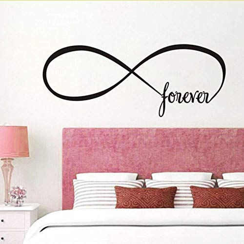 Forever Infinite Symbol Wall Sticker Para Sala De Estar Infinity Shape Endless Sign Wall Art Decal Removible Vintage Home Decor Tamaño:44 * 108CM