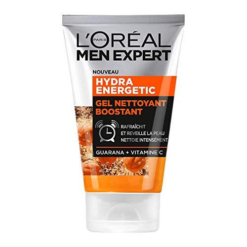 L'Oréal Men Expert - Gel Nettoyant Boostant pour Homme - Soin du Visage - Hydra Energetic - 100 ml - Lot de 2