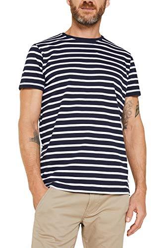ESPRIT Herren 990EE2K314 T-Shirt, Blau (Navy 3 402), XL