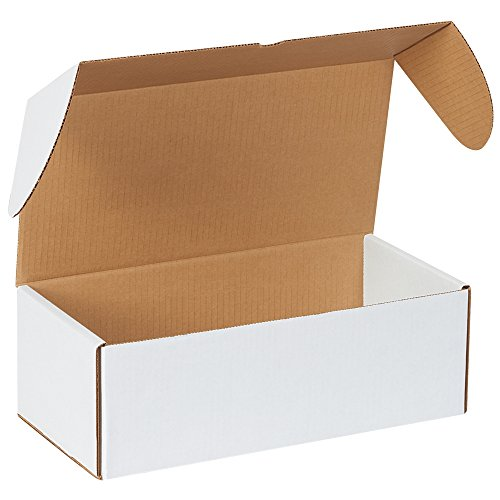 Boxes Fast BFMEZ1475 Outside Tuck Top Shipping Boxes, 14 1/2 x 7 1/4 x 5 Inches, Corrugated Cardboard Die-Cut Mailers, Large White Mailing Boxes (Pack of 25)