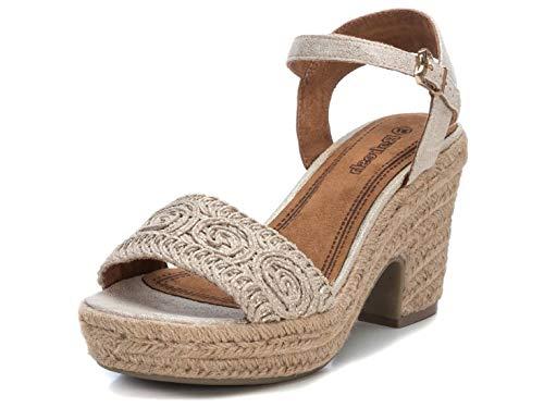 REFRESH Kik Sandalen/Sandaletten Damen Gold - 37 - Sandalen/Sandaletten Shoes