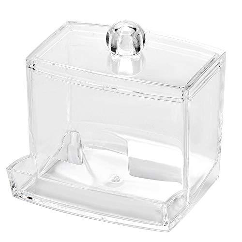 Boîte de tampons en acrylique clair acrylique coton tampon de coton-tige support maquillage cosmétique organisateur de stockage boîte