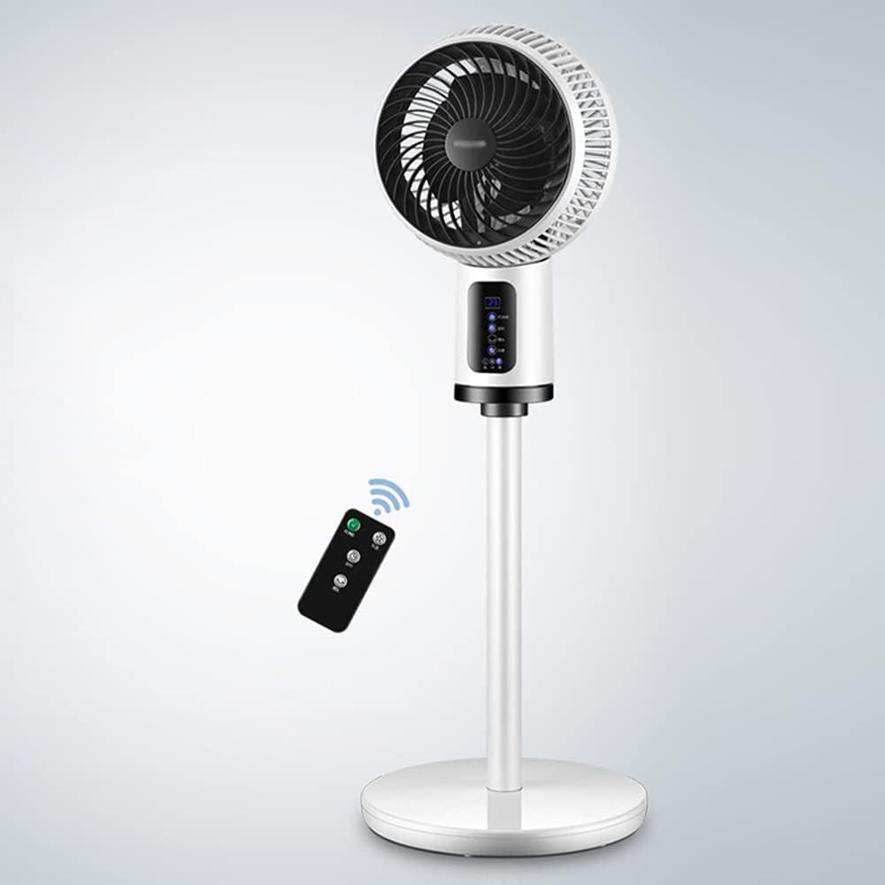 ventilador de pedestal con control remoto, oficina en casa, dormitorio, ventilador de pie de 3 velocidades con rejilla extraíble, ventilador oscilante de 27 cm a 90 °, fácil de montar y limpiar, bla