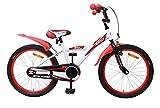 AMIGO BMX Turbo - Kinderfahrrad für Jungen - 20 Zoll - mit Handbremse, Rücktritt, Lenkerpolster und fahrradständer - ab 5-9 Jahre - Weiß