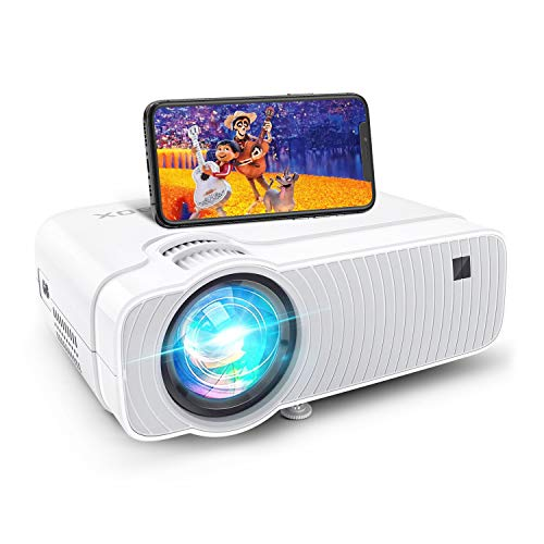 Projector for Outdoor Movies, Compatible with TV Stick, PS4, DVD Players, iPhone, Android, Windows, 5500Lux Bomaker WiFi Mini Ultra Portable TV Projector, Wireless Mirroring,