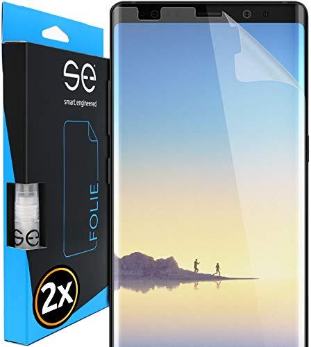 smart engineered [2 Stück] Entspiegelte 3D Schutzfolien kompatibel mit Samsung Galaxy Note 8, hüllenfre&liche Matte Bildschirmschutz-Folie, Schutz vor Dreck & Kratzern, kein Schutzglas
