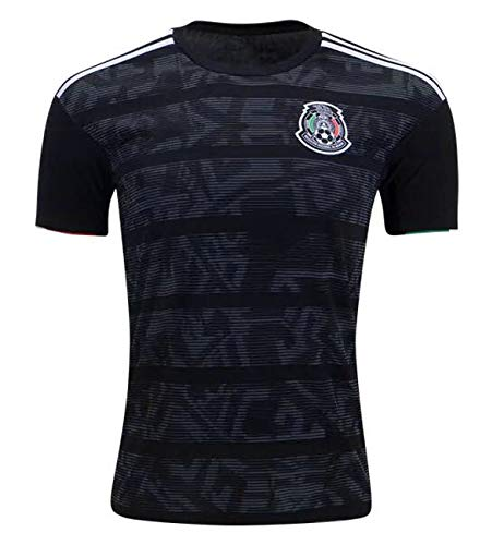 RJHNcase Mens Mexico National Team 2019 Home Jerseys Black (X-Large)