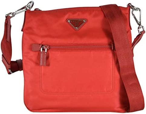Prada Tessuto Nylon Sport Red Messenger Cross body Handbag Medium 1BH716 product image