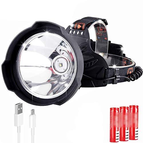 Stirnlampe,Led scheinwerfer 7500 lumen scheinwerfer usb wiederaufladbare super helle led hardhat licht, schutzhelm kopf lampe wasserdichte scheinwerfer für laufen, camping, angeln