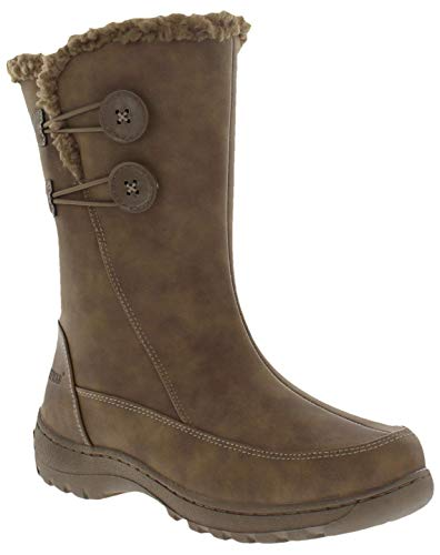 Weatherproof Womens Miranda Water Resistant Snow Boots, Brown, 7 B(M) US