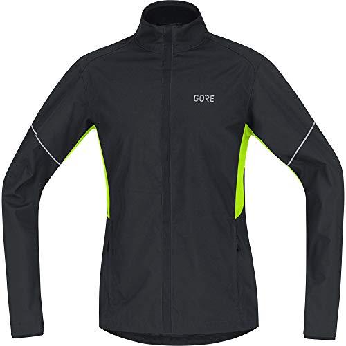 GORE Wear R3 Herren Jacke, Partial GORE WINDSTOPPER, L, Schwarz/Neon-Gelb