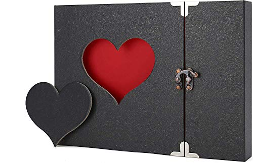 AIOR Scrapbook Album, Photo Album Scrapbook, DIY Handmade Memory Book, Black Pages with 228pcs Photo Corners, Scrap Book Christmas Wedding Anniversary Gifts for Couple Lovers(Black)