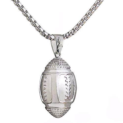 VAWA Rugby Ball Halsketten Anhänger Fitness Für Männer American Football Tuch Zubehör Sport Schmuck Edelstahl Kette
