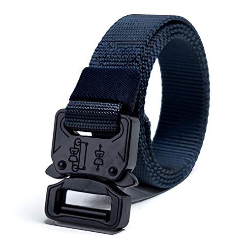 Cinturón táctico resistente cinturón de nailon ajustable estilo militar con hebilla de liberación rápida, color azul
