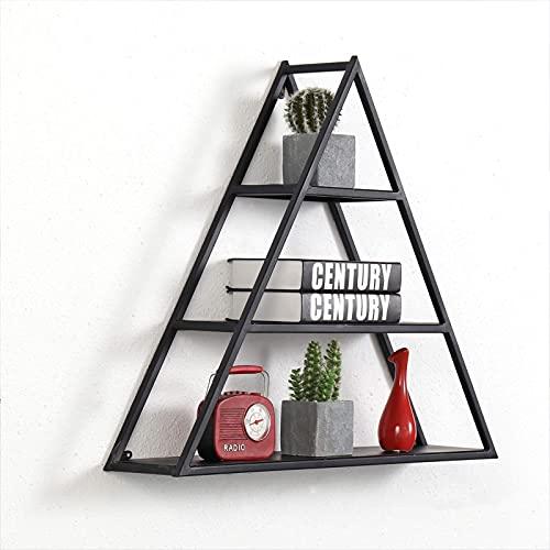 ZCZZ Unidad Triangular, estantes rústicos para Pared Largos, estantes Decorativos flotantes, estantes de Almacenamiento para Sala de Estar, Dormitorio, estantes de Cocina, Estante Shabby Chic