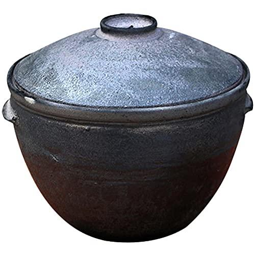5 L Cazuelas Terracotta con Tapa,Negro Cazuela Para Horno Ø 25cmCazuela Barro Pequeña para Todas Las Estufas