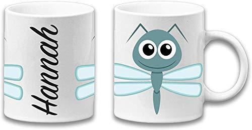Jasoncarlmorgan Jcm Gráfico Adorable Insectos Taza Regalo & Nombre Personalizado - Libélula, 11oz