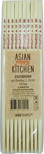 JADE TEMPLE 17001 Asian Happy Kitchen - Bacchette in bambù, lunghezza 24 cm