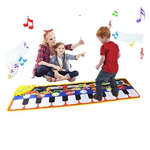 Hotaden Piano Mat, Musical Danza Mat Mat Duro Esecuzione con la Tastiera per i Bambini, Bambino precoce educazione Tastiera Musicale, Portatile Giocattolo di Musica colorato