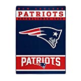 The Northwest Company Officially LicensedNFL New England Patriots '12th Man' Plush Raschel Throw Blanket, 60' x 80', Multi Color