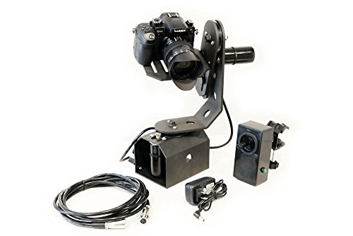 TigerTilt Motorized 360° Pan and Tilt Gimbal Head for Tripods, Cranes & Jibs - Battery Powered - Supports Cameras up to 8 LBS