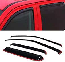 R&L Racing in-Channel Window Visor 4PC 2004-2012 for Chevy Colorado/GMC Canyon Crew Cab